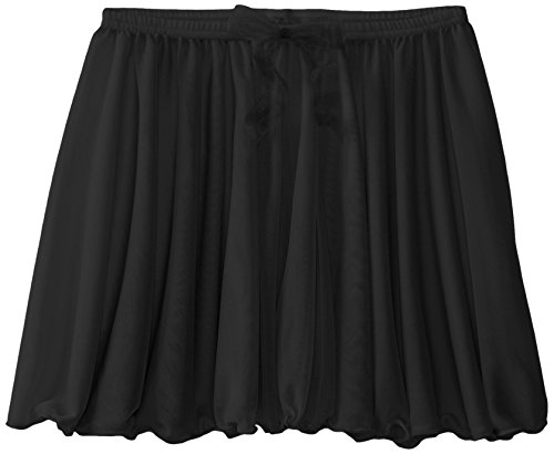 1/2 Inch Skirt (Capezio Big Girls' Children's Collection Circular Pull-On Skirt, Black, Large)