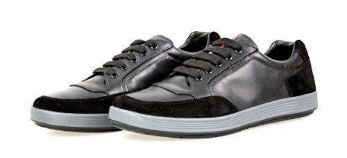 Prada Mens 4E2841 OJX F0002 Leather Sneaker 25X9hGh