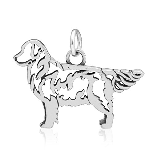 - Sterling Silver Golden Retriever Pendant, Body