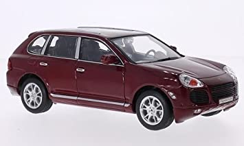 Porsche Cayenne Turbo, rojo oscuro, Modelo de Auto, modello completo, Welly 1:24: Welly: Amazon.es: Juguetes y juegos
