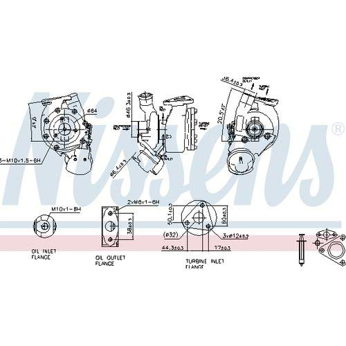 Nissens 93186 Turbo Charger: