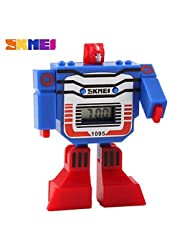 Watches, Kid's Digital Toy Watch Assembly Transformer Robot Style Wristwatch