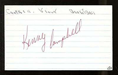 Kenny Campbell Signed Index Card 3x5 Autographed Kentucky D:1999 56259