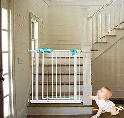 L.TSA Baby Gate con Puerta para Mascotas retráctil Baby Gate corralito de Seguridad para bebés Barrera para niños Puerta Puerta Puertas de Escalera: Amazon.es: Deportes y aire libre
