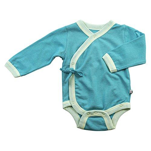 Baby Soy Long Sleeve Kimono Bodysuit Onesie (3-6 months, (Bella Long Sleeve Onesie)