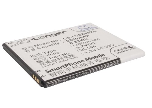 VINTRONS Rechargeable Battery 2250mAh For Lenovo BL198, S890, A850, A830, K860i, K860, S880, S880i