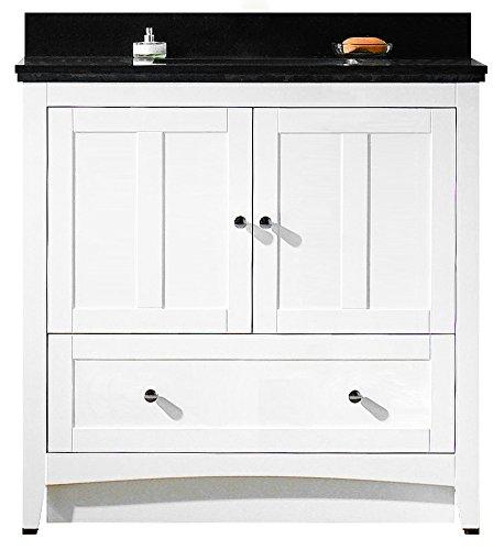 American Imaginations AI-999-17606 Modern Plywood-Veneer Vanity Set in White