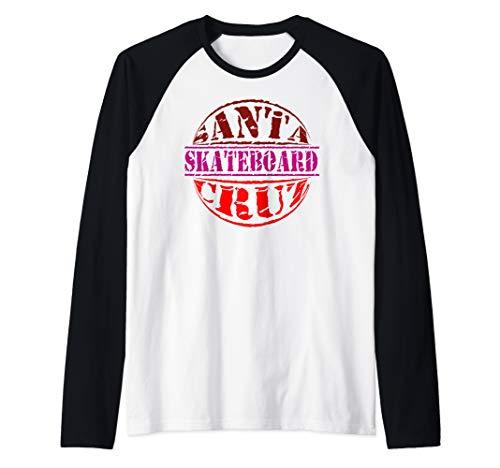 Santa Cruz Hoodie Skateboard California  Raglan Baseball Tee