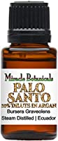 Miracle Botanicals Palo Santo Essential Oil 10% Dilute in Argan - Therapeutic Grade Bursera Graveolens (10%) in Virgin Organic Argan (90%)