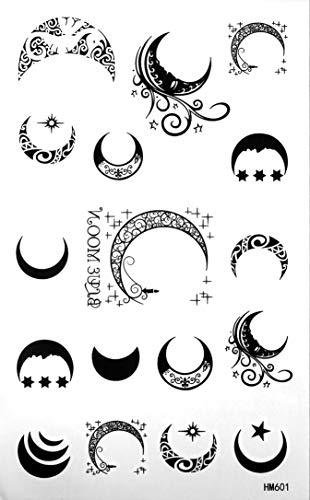 - King Horse Moon Temporary Tattoos Waterproof Tattoo Stickers Moon Totem Star Fake Tattoos