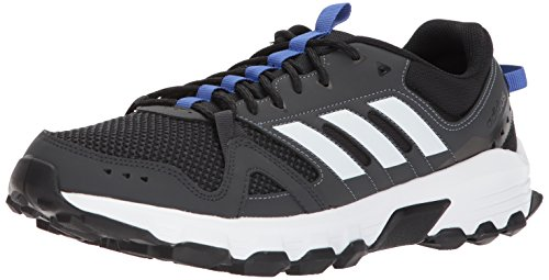 adidas Performance Men's Rockadia m Trail Running Shoe, Carbon/White/Hi-Res Blue, 7.5 M US