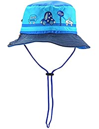 Guozyun Baby Boys Sun Protection Hat Bucket Caps for 8-36 Months Infant Toddler Kids