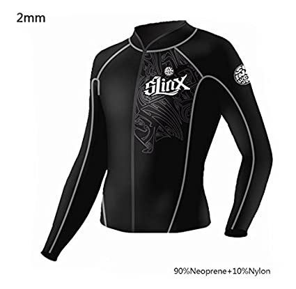 266da482ad Image Unavailable. Image not available for. Color  pandawoods Wetsuit top  2mm Long Sleeve Neoprene Wetsuit Jacket for Men Women