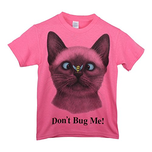Children's Park Avenue Big Girls PinkDon't Bug Me! Cat Face Print Short Sleeve T-Shirt 10/12 Park Avenue Dress