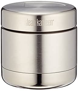 Klean Kanteen Vacuum Insulated Food Canister with Stainless Lid, Brushed Stainless, 16-Ounce