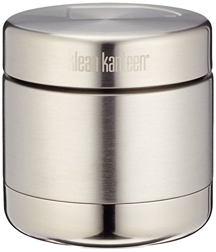 Klean Kanteen Vacuum Insulated Food Canister with Stainless Lid, Brushed Stainless, 16-Ounce by Klean Kanteen
