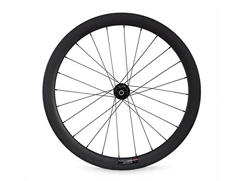 Hulk-sports 700c Disc Brake Road Bike Wheel Set Carbon Clincher Shiman& Campy 11 Speed System 3K Matte Front wheel