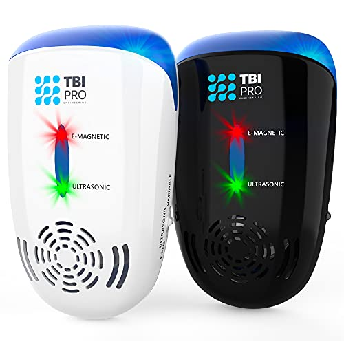 Effective Ultrasonic Pest Repeller - Wall Plug-in Electromagnetic & Ionic - Ant Fly Mosquito Mouse Rats Roach Repellent…