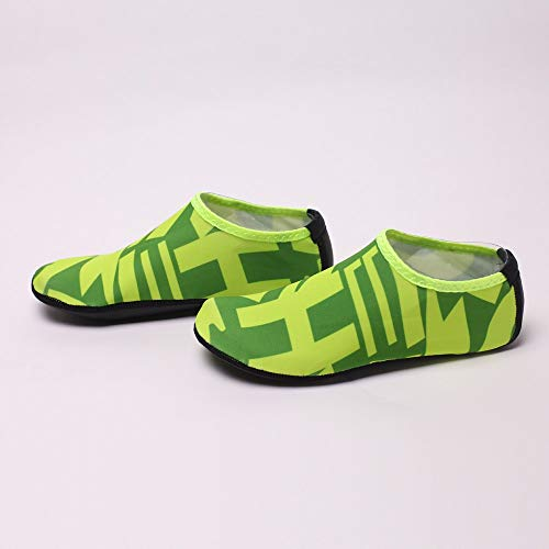NUWFOR Beach Shoes Water Sports Unisex Water Shoes Barefoot Yoga Socks Diving Barefoot (Green, 11-12 M US Length:10.8'') by NUWFOR (Image #2)