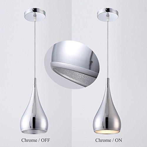 OOFAY Chromed Calabash Pendant Light,Polished Metal Hanging Light E27 Bulb for Bar Bedroom Kitchen Island Dining Room Chandelier,E