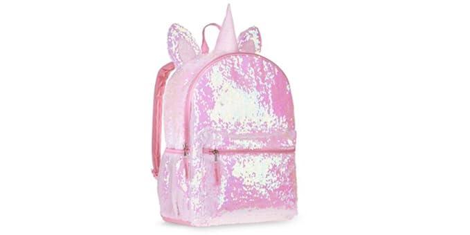 Amazon Com Pinku Pirates Sequin Unicorn Backpack Black For Girls