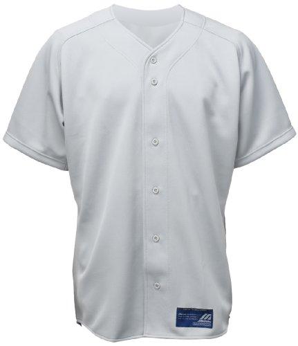 Mizuno Boys' Full Button Short Sleeve Baseball Jersey