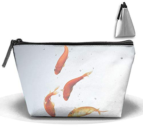 Personalized Make Up Bag Customize Animal Goldfish Fish Cosmetic Pouch -