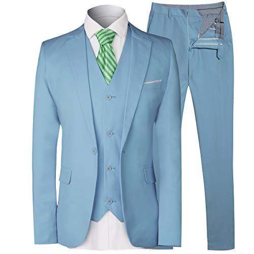 Inexpensive Mens Suits - MAGE MALE Men's 3 Pieces Suit