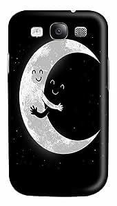 Earth And Moon Hugging Custom Polycarbonate Plastics Case for Samsung Galaxy S3 / S III/ I9300