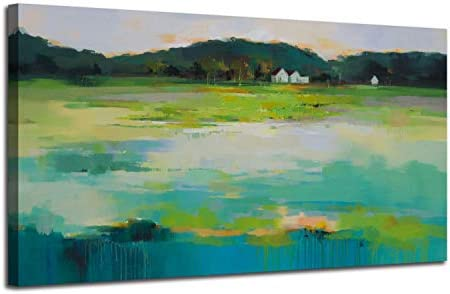 Abstract Countryside Mountain Landscape Painting