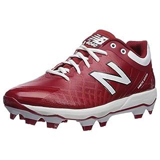 New Balance Men's 4040 V5 TPU Molded Baseball Shoe, Maroon/White, 13 M US