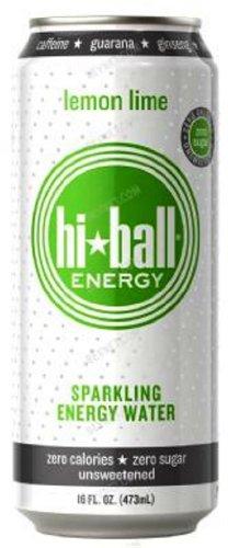 Hi Ball Energy - Hi Ball Sparkling Energy Water, Lemon Lime, 16 Ounce (Pack of 12)
