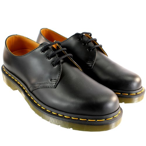 Mens Dr Martens 1461 Classic Vintage Lace Up Retro Leather Shoes - Black - 13