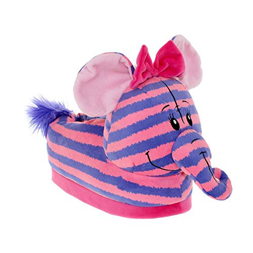 7016-3 - Disney Winnie The Pooh - Pink Pooh Heffalump Slippers - Medium/Large - Happy Feet Mens and Womens Slippers]()