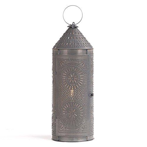 22'' Chimney Lantern in Blackened Tin