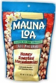 Hawaiian Gift Basket Mauna Loa Macadamia Nuts Honey Roasted 4 Bags
