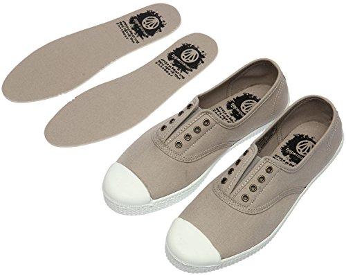 Paperplanes-1350 Femmes Baskets Basses En Toile Espadrilles En Toile Chaussures 1351-gris Clair