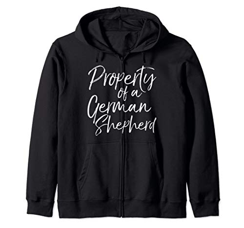 Cute German Shepherd Gift Property of a German Shepherd Zip Hoodie (Lab Coat Long Bulldogs)
