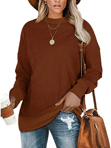 NSQTBA Sweatshirts for Women Long Sleeve Crew Neck Shirts Tunic Tops for Leggings