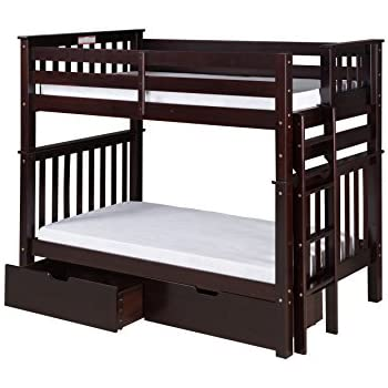 Amazon Com Milton Twin Over Twin Bunk Bed With Ladder