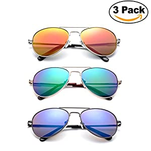 """""""Sonido"""" - Kyra Hand Polished Lead Free Fashion Sunglasses with Flash/Mirror Lenses for Kids Ages 1-5 years Old Fashion Accessories"""