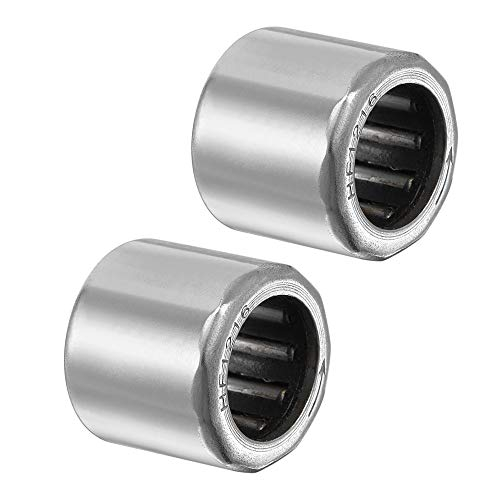 - uxcell HF1216 Needle Roller Bearings, One Way Bearing, 12mm Bore 18mm OD 16mm Width 2pcs