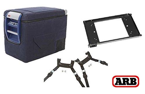 ARB 4X4 Accessories 50 Qt 1.35 Amps Fridge Freezer & Slide & Tie Down Bundle W/Custom Transit Bag