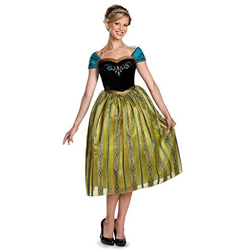 Disguise Women's Anna Coronation Deluxe Adult Costume, Multi, Small (Anna Womens Costumes)