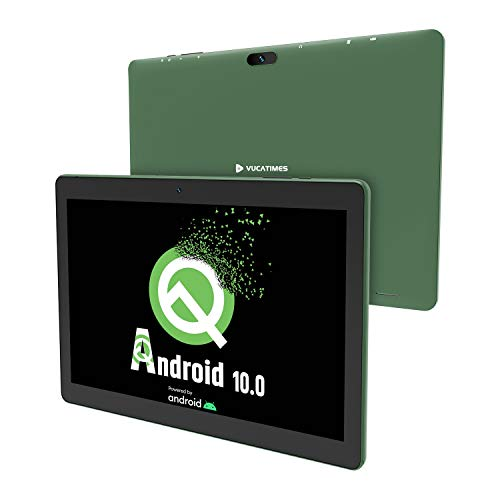 Tablet 10-Inch Android 10.0 - VUCATIMES 32GB ROM IPS HD Display Quad-Core Processor WiFi Bluetooth 4.2 Google Certified, Play Store Pre Installed, N10 (Green)
