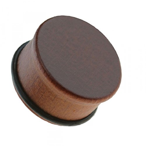 Freedom Fashion Organic Single Flared Sono Wood Plug with O-ring (Sold by Pair) (00GA, Brown) ()