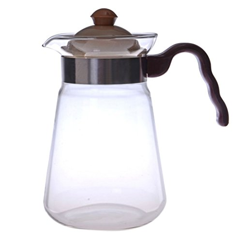 Heat Resistant Borosilicate Glass Teapot Coffee Pot Kettle Gas Electric Spirit Stoves Safe 1000ml FH-006P