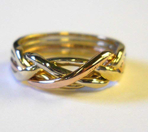 Ladies 4 Band Puzzle Ring Style 4T (Ring Puzzle Ladies)
