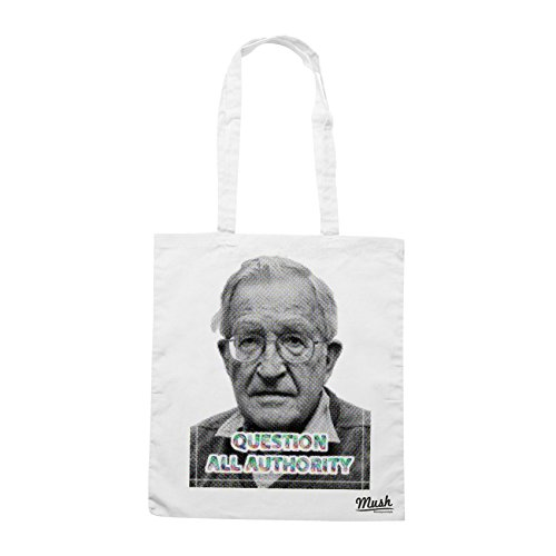 Borsa NOAM CHOMSKY POP - Bianca - FAMOSI by Mush Dress Your Style