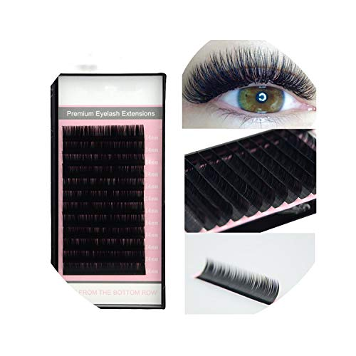 All Sizes False Eyelash Extensions Mink Black Material JBCD Curls 1 Tray/Lot,D,0.15mm,16 17 18mm mixed